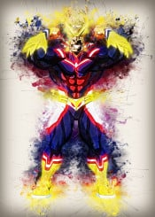 all might one for all anime manga cartoon comic cool art fanart