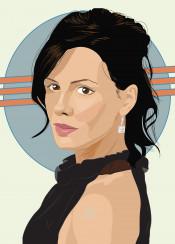 kate beckinsale woman vector digital action actress style fanart portrait vectorart katebeckinsale selene underworld