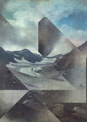 glacier mountains mixedmedia texture abstraction landscape alps geometry ice rocks peaks clods triangle