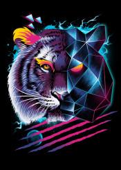 tiger tigers animal animals cyberpunk punk rad original