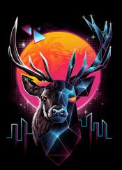 stag deer animal animals stags rad cyberpunk punk original