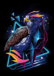 hawk hawks animal animals rad cyberpunk original