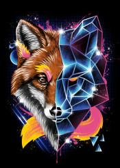 cyberpunk punk animal animals fox foxes original rad