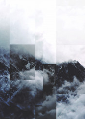 abstract landscape digital nature mountains