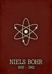 niels bohr atom poster science physics chemistry