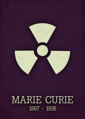 marie curie science radiation poster physics