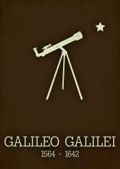 galileo galilei poster telescope astronomy science physics