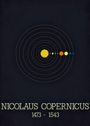 nicolaus copernicus poster heliocentric model solar system sol space astronomy sience