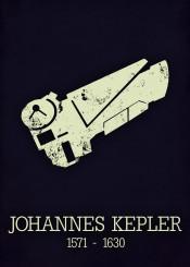 johannes kepler telescope poster astronomy sience space