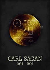carl sagan golden record space astronomy poster sience