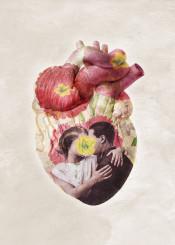 love heart floral valentines hug kiss couple