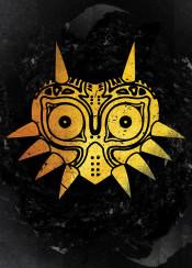 mask masks majora majoras eyes character ink inking power japan japanese bot game gamer games gaming gold golden china nintendo grunge cool vintage horn fanfreak fan art skull