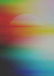 abstract surreal digital vivid colorful sun ocean sea dream dreamy
