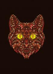 cat mosaic animal artsy