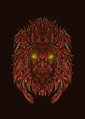 lion mosaic animal wild