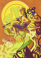 guardina sun daylight day original originalart digital digitalart scifi sciencefiction alien illustration visualart creative unique new creature monster dragon people man wizard whimsical ipad ipadart retro color vibrant green yellow brown indie scene cool awesome