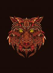 fox wild animal mosaic
