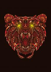 bear animal mosaic artsy