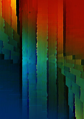 red yellow green blue linear vertical radial abstract radiation