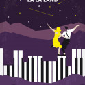 No756 My La La Land minimal movie poster A jazz pianist falls for an aspiring actress in Los Angeles. Director: Damien Chazelle Stars: Ryan Gosling, Emma Stone, Rosemarie DeWitt