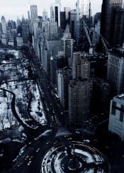 nyc newyork manhattan winter snow centralpark skyscraper urban city