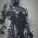 """Dead or Alive, you're coming with me"" Splatter effect artwork inspired by the Robocop."