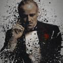 """The Father"" Splatter effect artwork inspired by Don Vito Corleone from The Godfather"