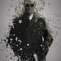"""""""Travis"""" Splatter effect artwork inspired by Travis Bickle from Taxi Driver"""