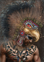 history azteca warrior man elite mexico empire feathers tribal bird military mexica xiii soldier particles guerrero aguila war blue red gold