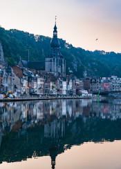 belgium dinant reflection city