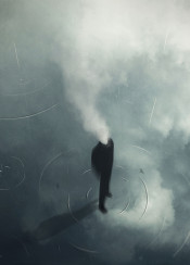 cloud cloudhead water rain nostalgic reflection ripples wave drizzle shadow looking up smoke floating standing man