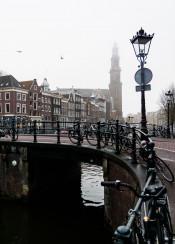 amsterdam city fog architecture europe