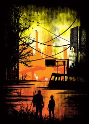 the last of us game gaming video horror thriller ellie joel clickers giraffe buildings apocalypse zombies deer