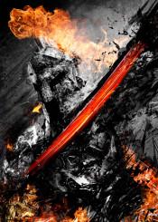 gladiator hell war warrior energy movie 300 helmet sparta spartan sword fire metal metallic dark cool awesome gift greek game