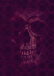 purple death skull gothic home decor poster scardesign graphic design illustration digital