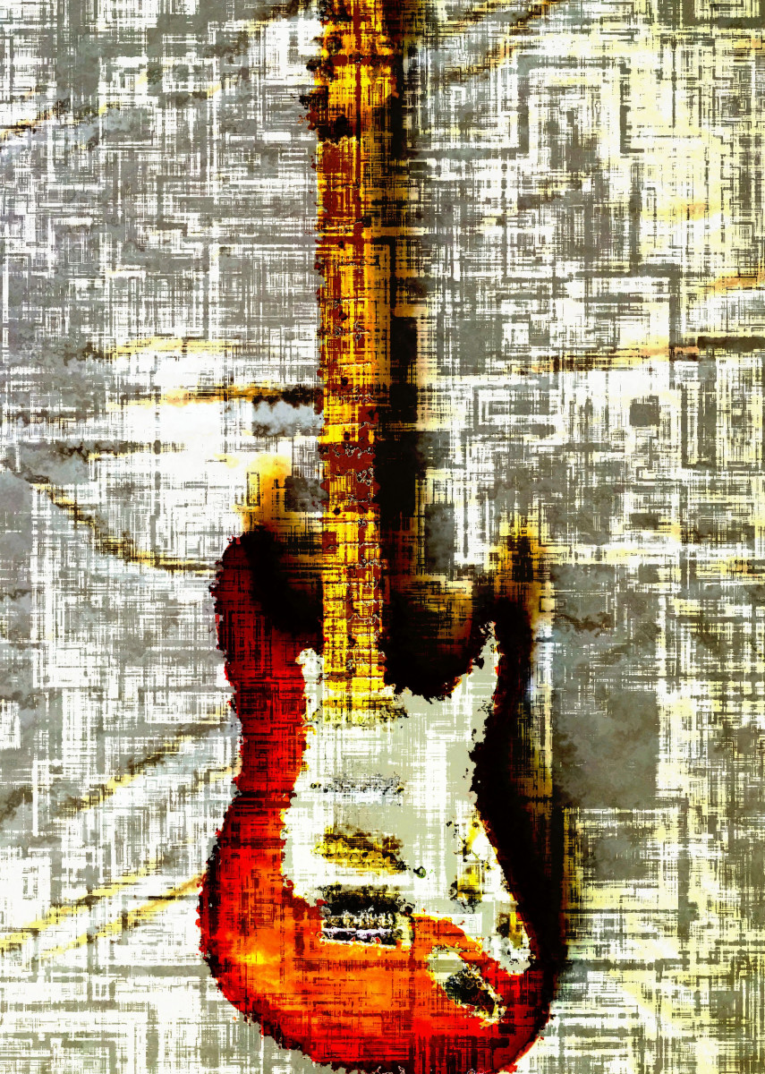 Electric guitar abstract 1 263518