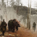 1920 - into the wild new painting from my 1920+ project, this is my tribute to bear 'Wojtek', who fought with the Polish army in Africa and at Monte Casino and he was awesome!