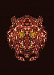 animal tiger wild mosaic