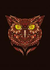 owl mosaic animal artsy