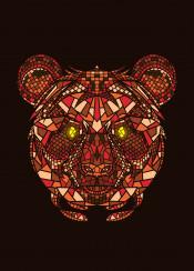 panda animal mosaic artsy