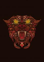 panther animal wild cat mosaic artsy