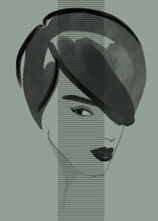 fashion fashionportrait fashionart fashionillustration shadow green woman style beauty minimal chic