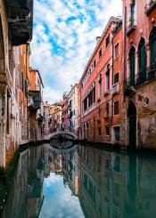 venice reflection italy canal