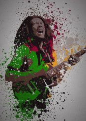 music legends splatter pop culture bob marley reggae weed jamaica jamaican cannabis