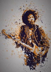 music legends splatter pop culture musician jimi hendrix