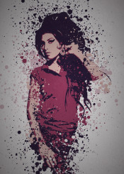 music legends splatter pop culture musician amy winehouse rehab