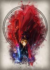 full fma edward ulrich hero cool anime manga cartoon comic pop art fullmetal metal alchemist