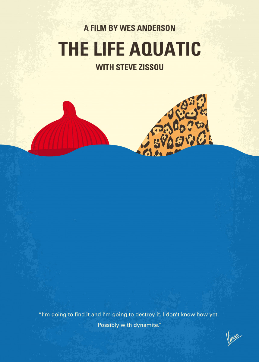 No774 My The Life Aquatic with Steve Zissou minimal movie poster With 271074