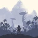 Poster design for the video game, Horizon: Zero Dawn