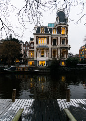 house home architecture amsterdam netherlands dutch reflection canal